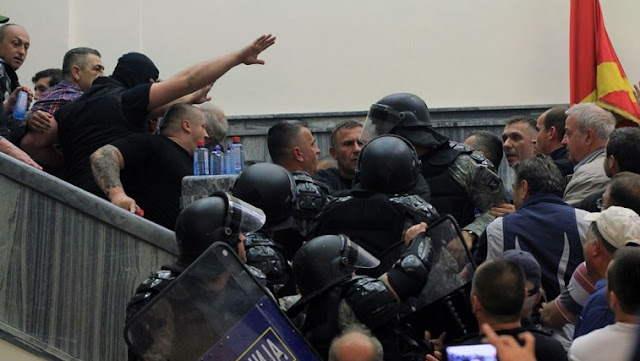 Skopje Prosecutor's Office issues arrest warrants for 15 people attacked the Assembly