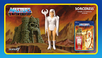Masters of the Universe Temple of Darkness Edition Sorceress of Castle Grayskull Retro Action Figure by Super7