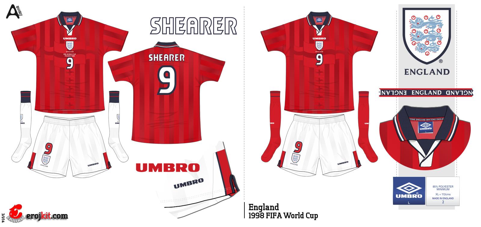 Camisa da Inglaterra 9f3a4aefd3375
