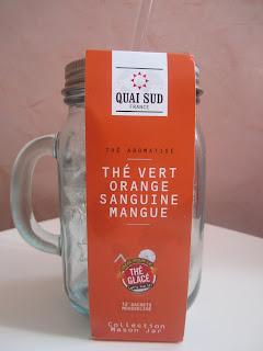 Thé vert dans une Mason Jar Quai Sud