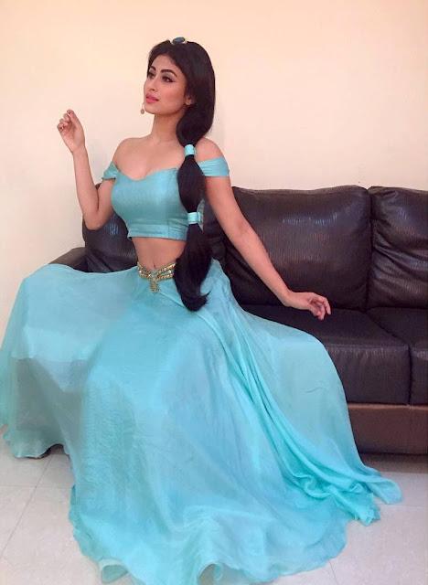 Mouni Roy jasmine dress
