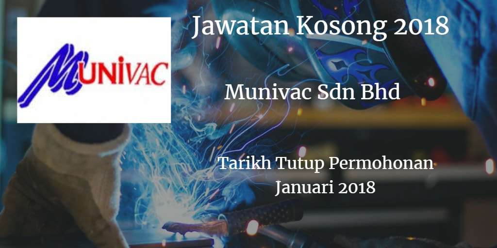 Jawatan Kosong Munivac Sdn Bhd Januari 2018