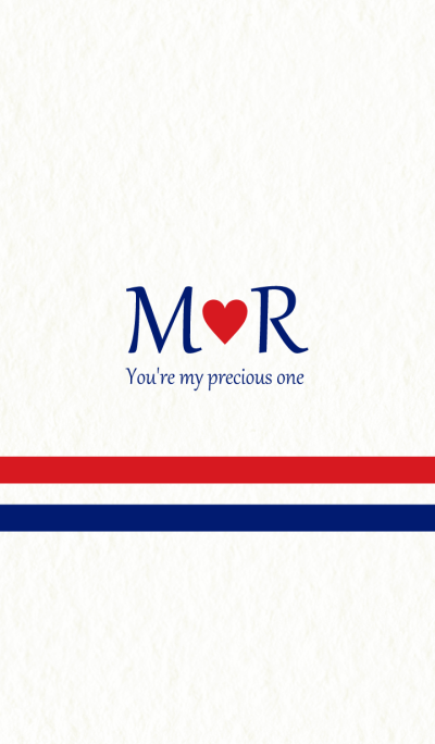 M&R Initial -Red & Blue-