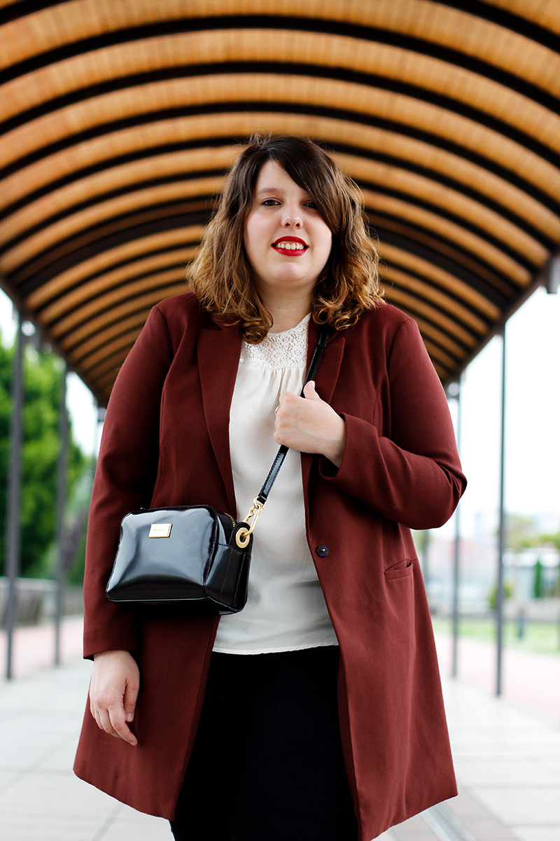 Collage of Style blog by Almudena Duran  - Look marron y negro III