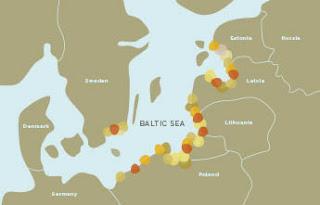 Ambar del mar baltico - mapa de referencia