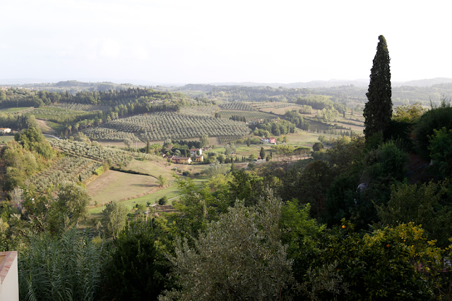 Views over Tuscan Rolling Countryside in Italy