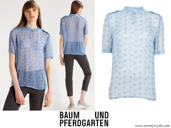 Crown Princess Victoria wore Baum und Pferdgarten Blue pony Marge blouse