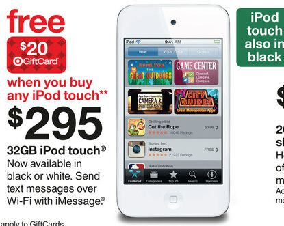Target coupon ipod touch