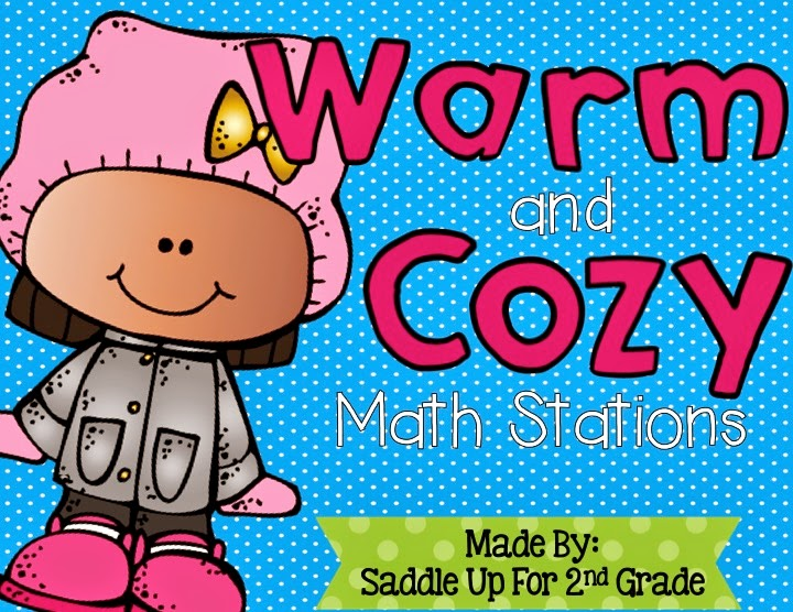 Warm and Cozy Winter Math Stations by Saddle Up For 2nd Grade