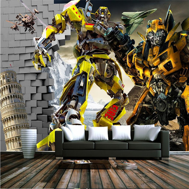 Wall Murals for Kids Room Transformers 3d