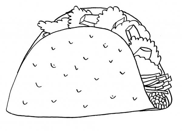 free printable taco coloring pages - photo#2