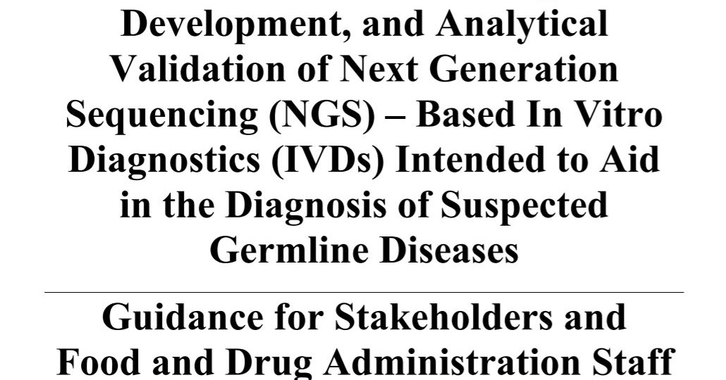 Discoveries in Health Policy: FDA Releases NGS Review