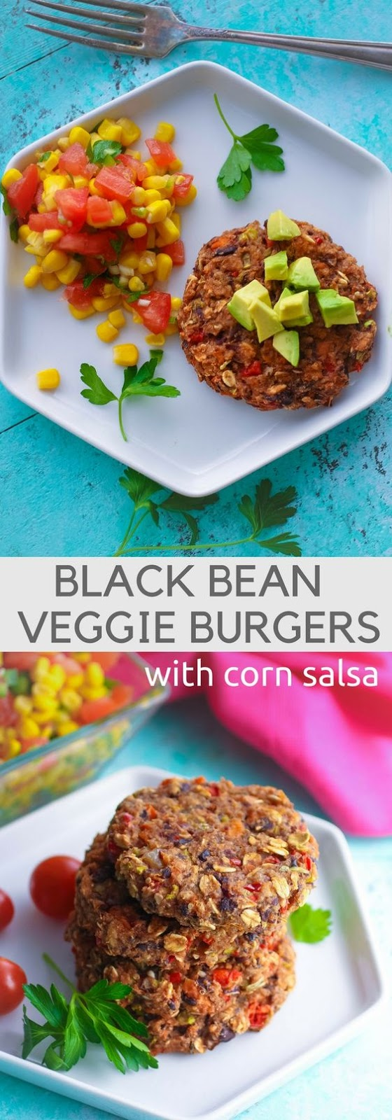 Black Bean Veggie Burgers With Corn Salsa