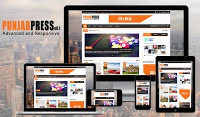 Punjab Press - Responsive Blogger Template
