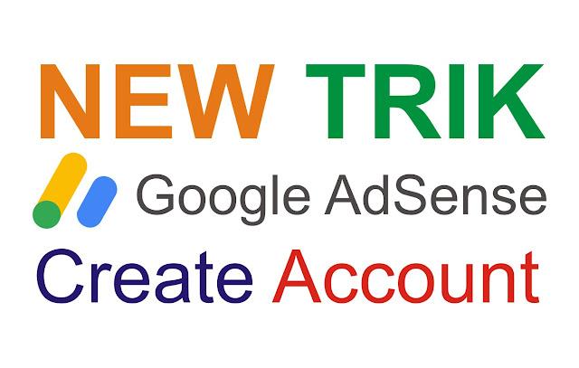 Gambar tulisan new trik google adsense Create Account