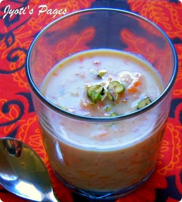 Carrot and Almond Kheer is a sweet Indian milk-based pudding that is inspired by the classic Indian Kheer. Find the recipe for Carrot and Almond Kheer here.