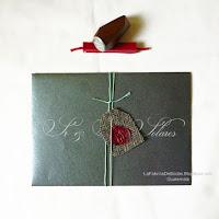venta de sobres lengueta europea con etiqueta  y sello cera lacre sealingwax con iniciales en Guatemala