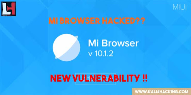 Mi Browser and Mint Browser new vulnerability