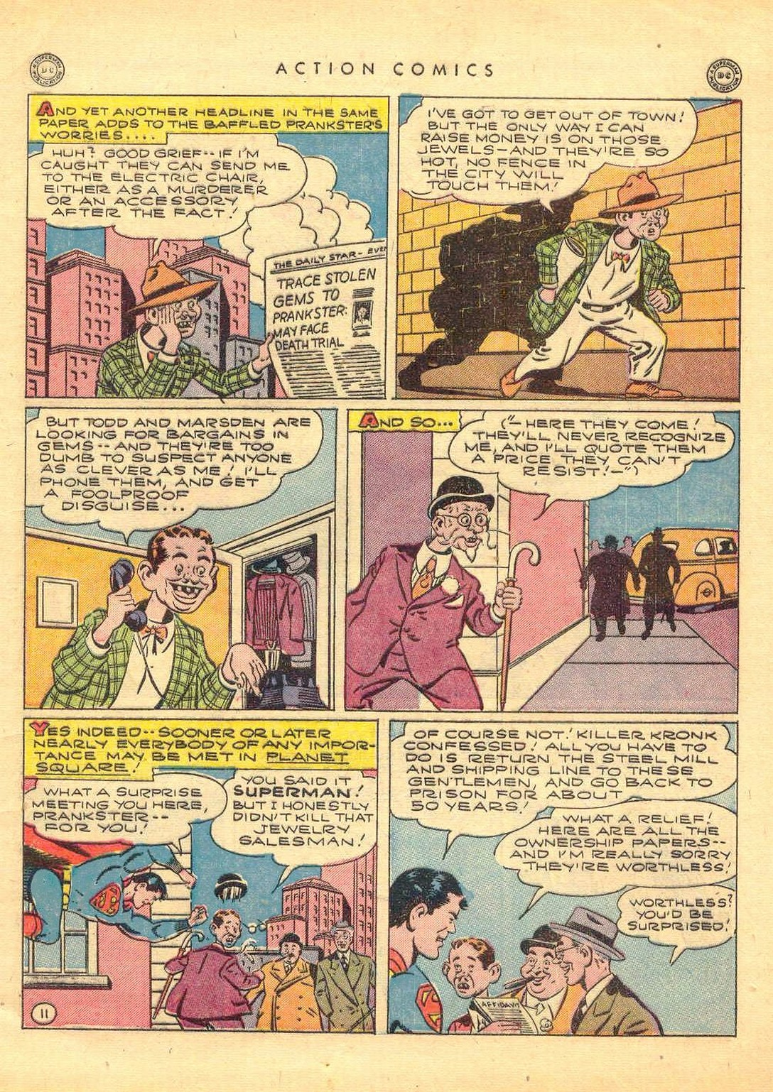 Read online Action Comics (1938) comic -  Issue #77 - 12