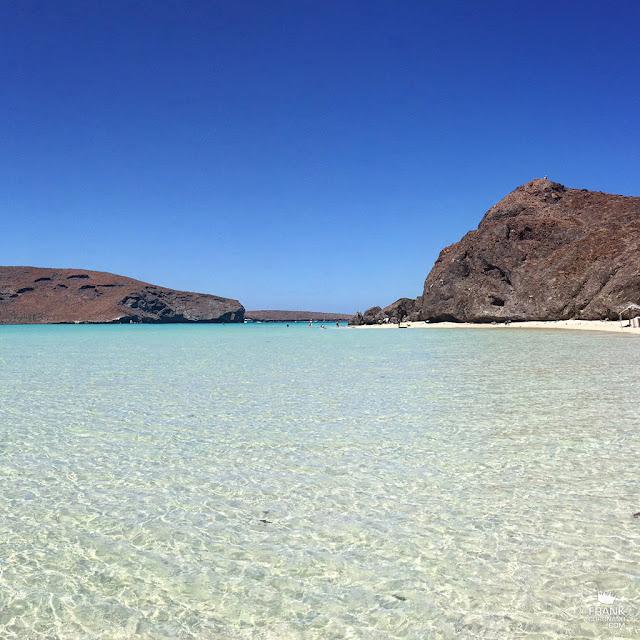 agua cristalina de playa balandra