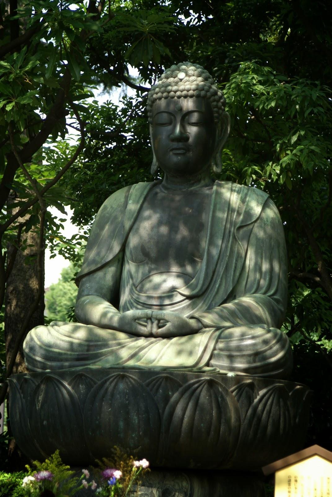 Bouddha japonais en bronze