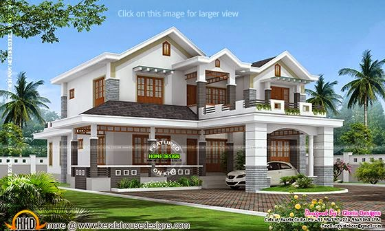 Double storied house