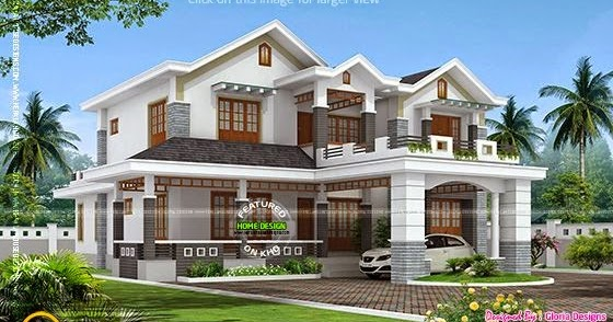 double-storied-house-thumb Kerala Home Design With Long Veranda on modern mountain home designs, enclosed pergola designs, best energy efficient home designs, homes with flat roof designs, homes with carport designs, front verandah designs, mobile home designs, spanish home designs,