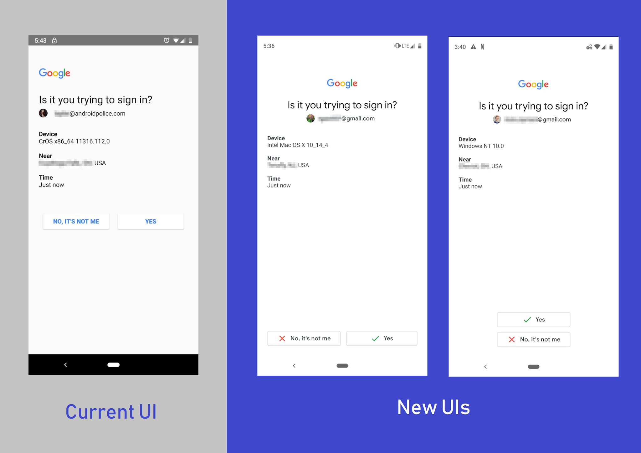 Google Is Experimenting With New Ui For Two Step Verification Pages On Smartphones Digital Information World