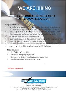 fly gosh flight sim instructor ppl cpl atpl accepted