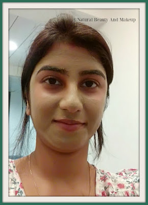 Wearing Ayur Herbals Neem Face pack