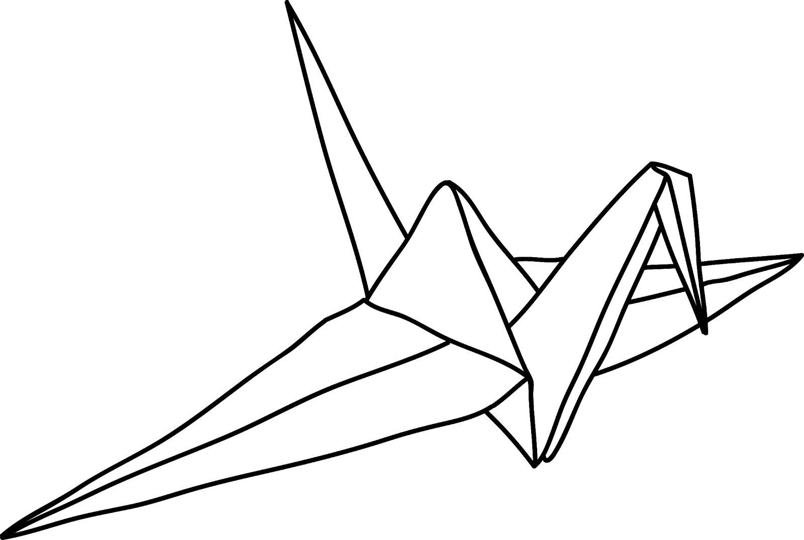 Origami Crane Outline - photo#8