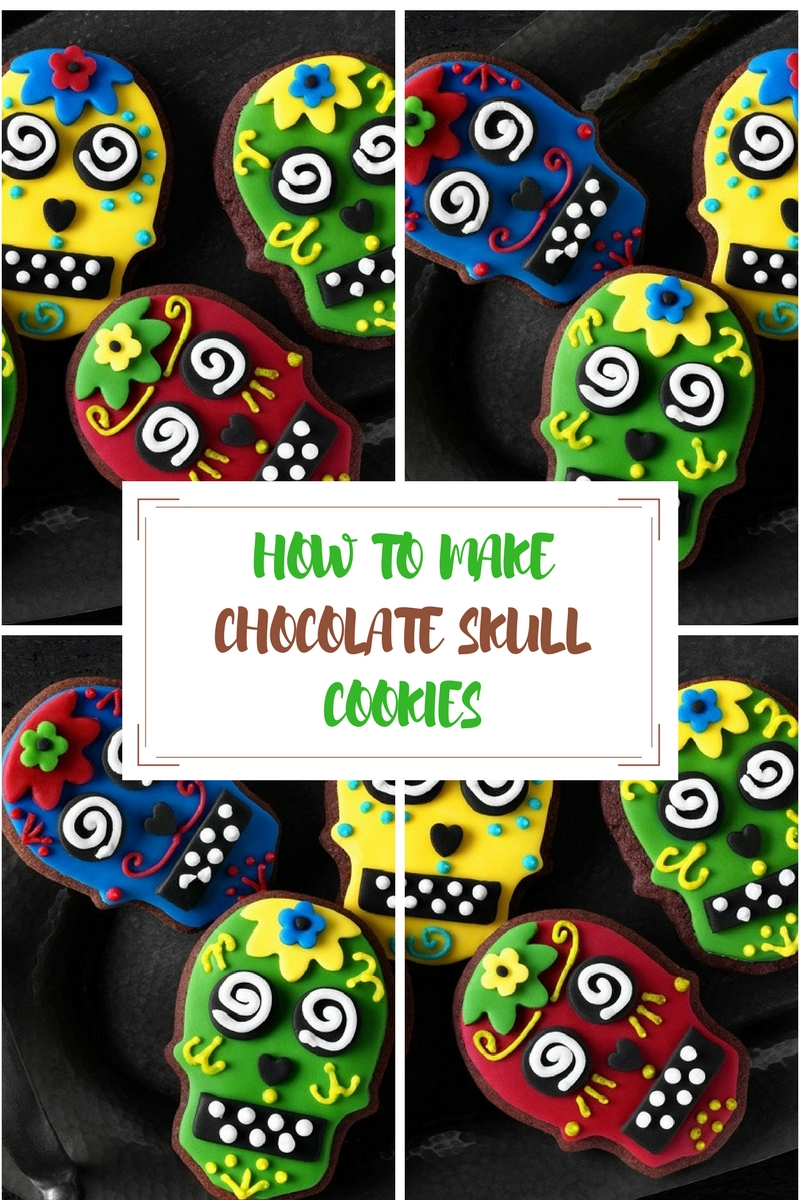 Chocolate Skull Cookies Recipe