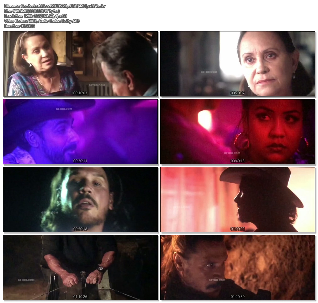 Rambo Last Blood 2019 720p HDCAMRip x264 | 480p 300MB | 100MB HEVC Screenshot