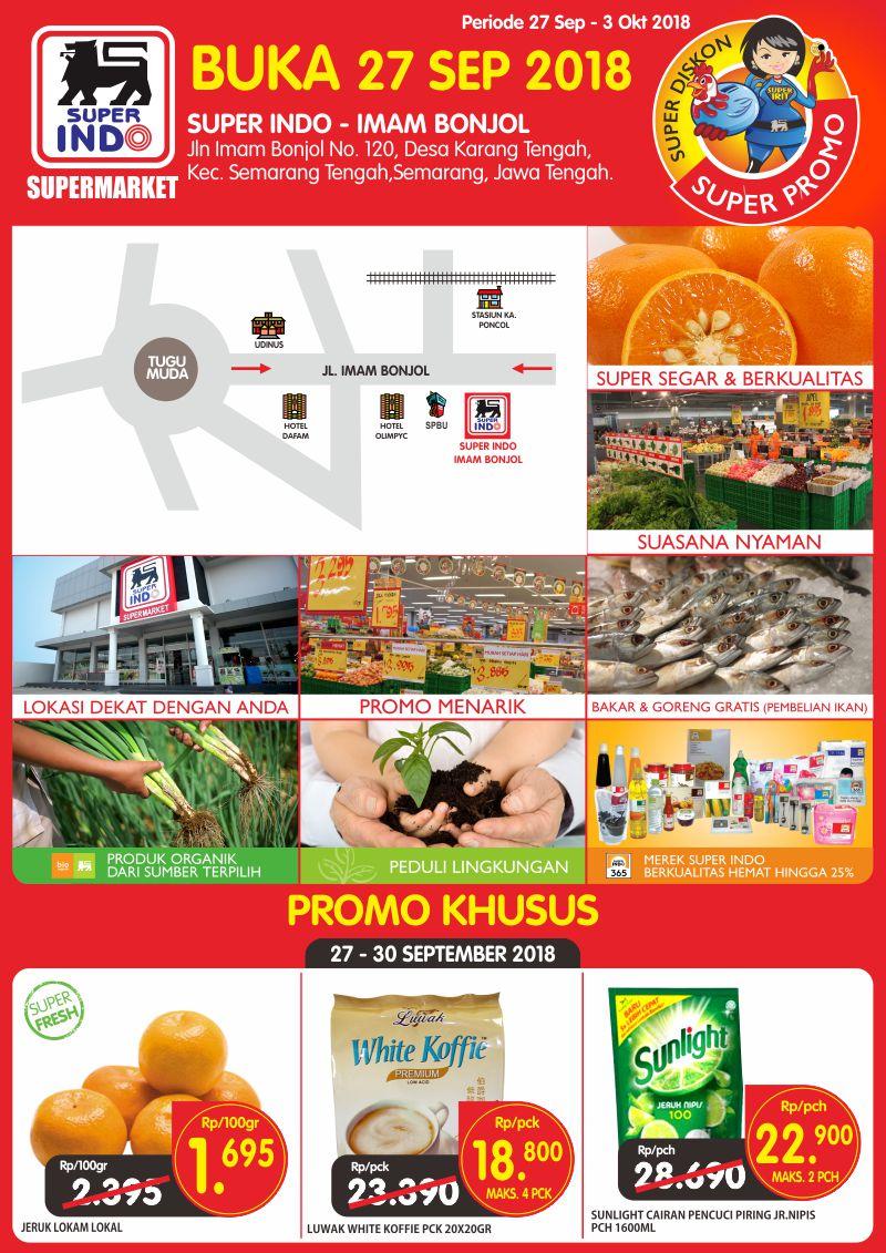 Superindo - Promo Opening Super Indo Imam Bonjol Semarang (s.d 30 Sept 2018)