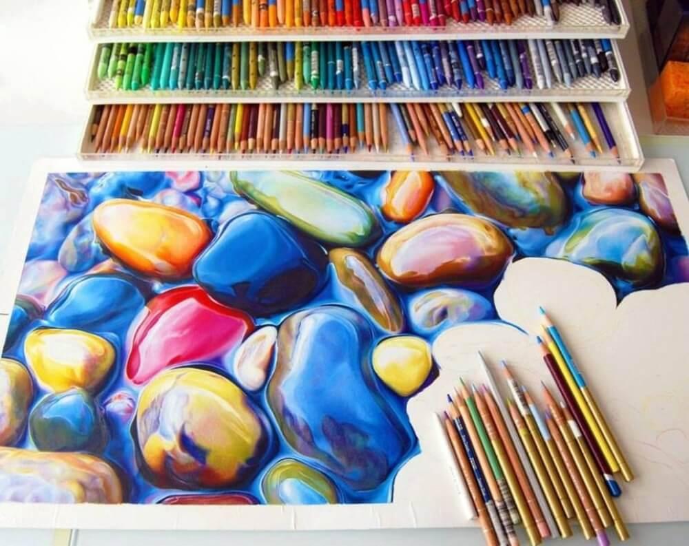 رسم جميل بشكل لا يصدق باستخدام أقلام ملونة فقط