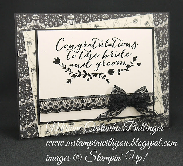 Miriam Castanho-Bollinger, #mstampinwithyou, stampin up, demonstrator, dsc, wedding card, timeless elegance dsp, for the new two stamp set, heat embossing, su