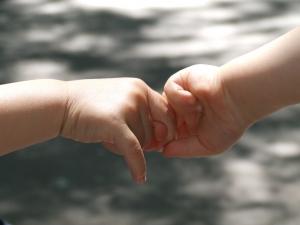 Image: Baby hands - hand by hand. Stock Photo credit: haiinee