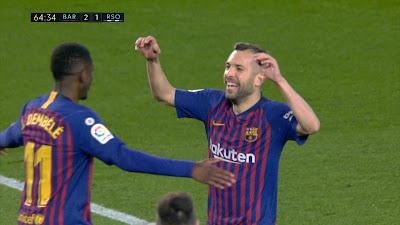 LFP-Week-33 Barcelona 2 vs 1 Real Sociedad 20-04-2019