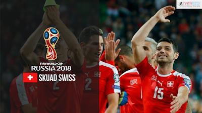 Skuad Susunan Pemain Swiss di Piala Dunia 2018