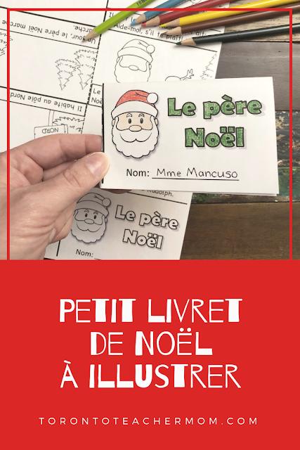 petit livret de Noël à illustrer