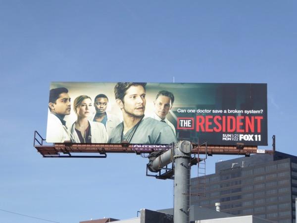 Resident series premiere billboard