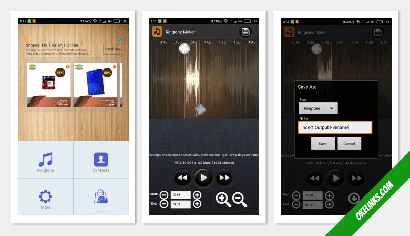 aplikasi pemotong mp3 android ringan terbaik