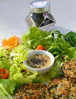 Galette à la quinoa et aux chénopodes (ou épinards) © Popote et Nature