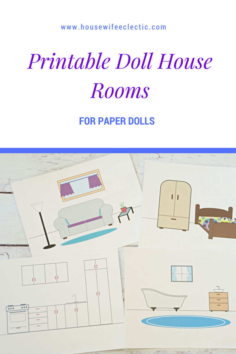 Printable Doll House Rooms  Housewife Eclectic