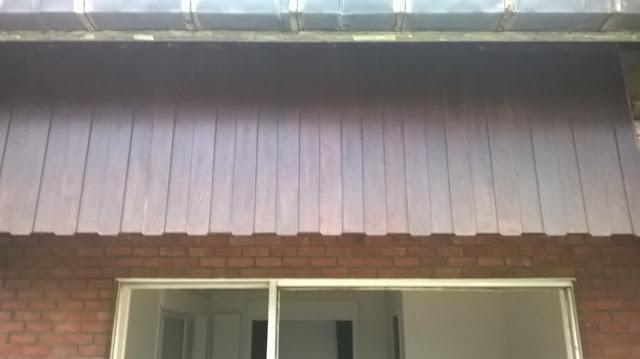 Oude houten gevelbekleding