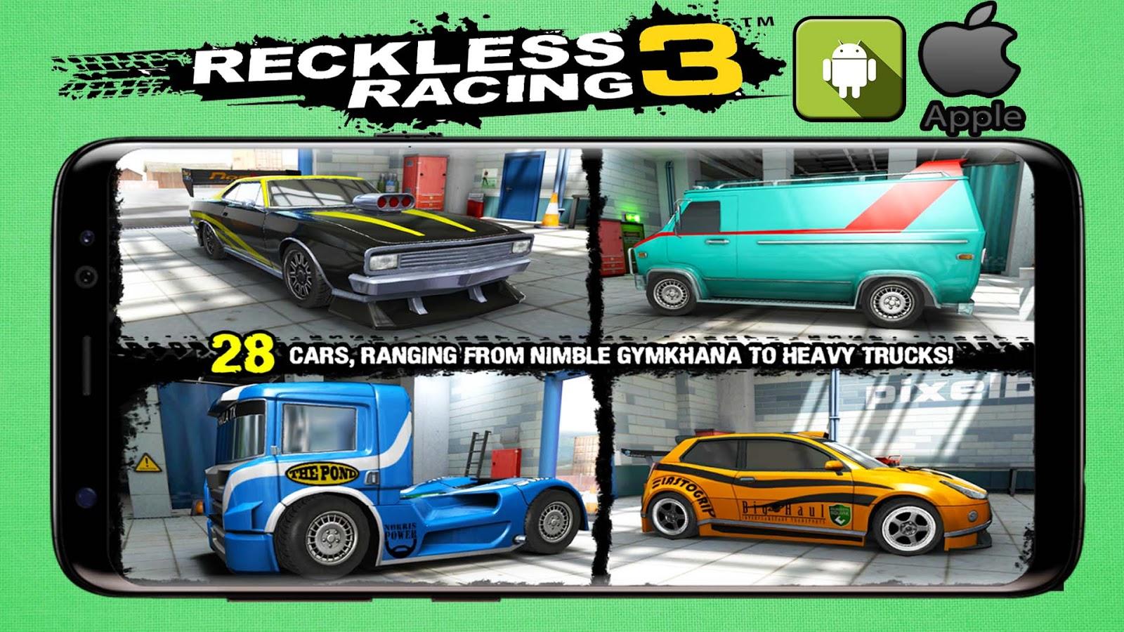 تحميل لعبة reckless race 3 للاندرويد الايفون