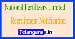 National Fertilizers Limited NFL Recruitment Notification 2017