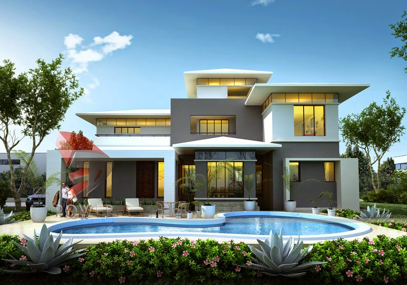 Modern Bungalow Exterior Design In India