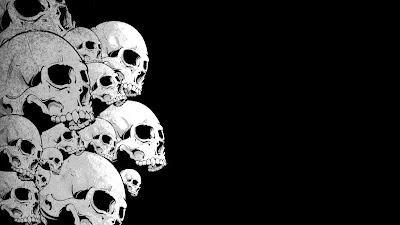 desktop wallpapers - skull - black and white
