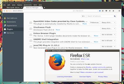 Firefox 52 ESR plugins